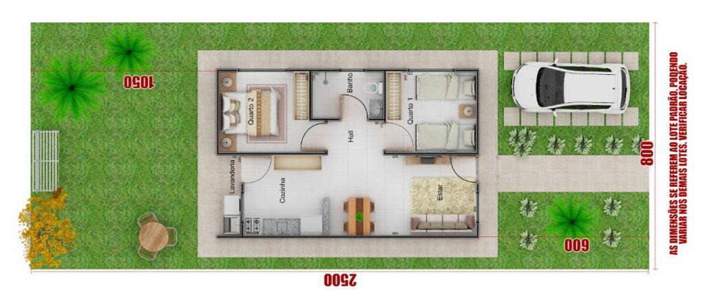 casas luizote 4 - planta